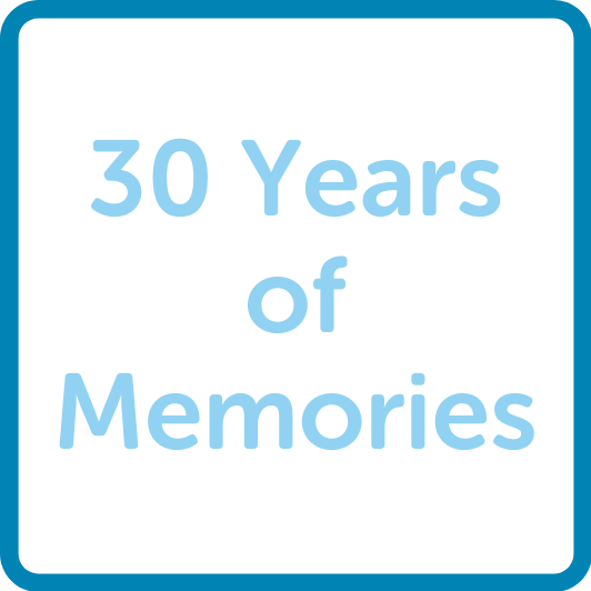 30 years of memories button